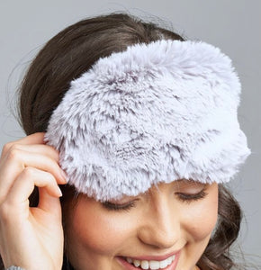 Lemon Loungewear Grey Fur Sleep Mask CW-1020