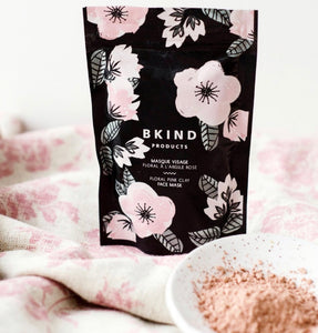 Floral Pink Clay Face Mask bk-9