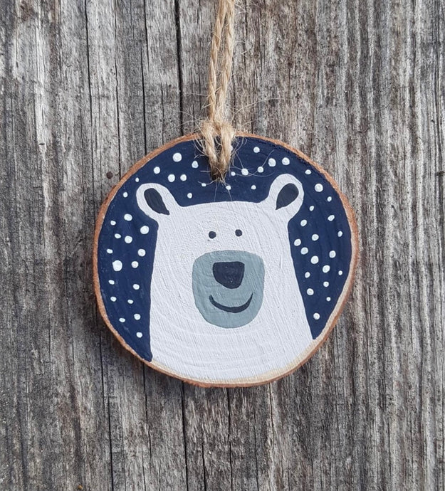 Westcoastkitsch Polar Bear with Snow Ornament WCK-5