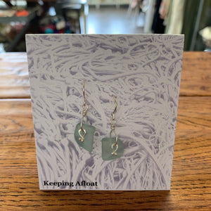 Keeping Afloat Nugget Kelp Knot Earring NKKDe