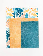 Load image into Gallery viewer, 3pk Set Goldilocks Beeswax Wrap Tropical Palms gl-3