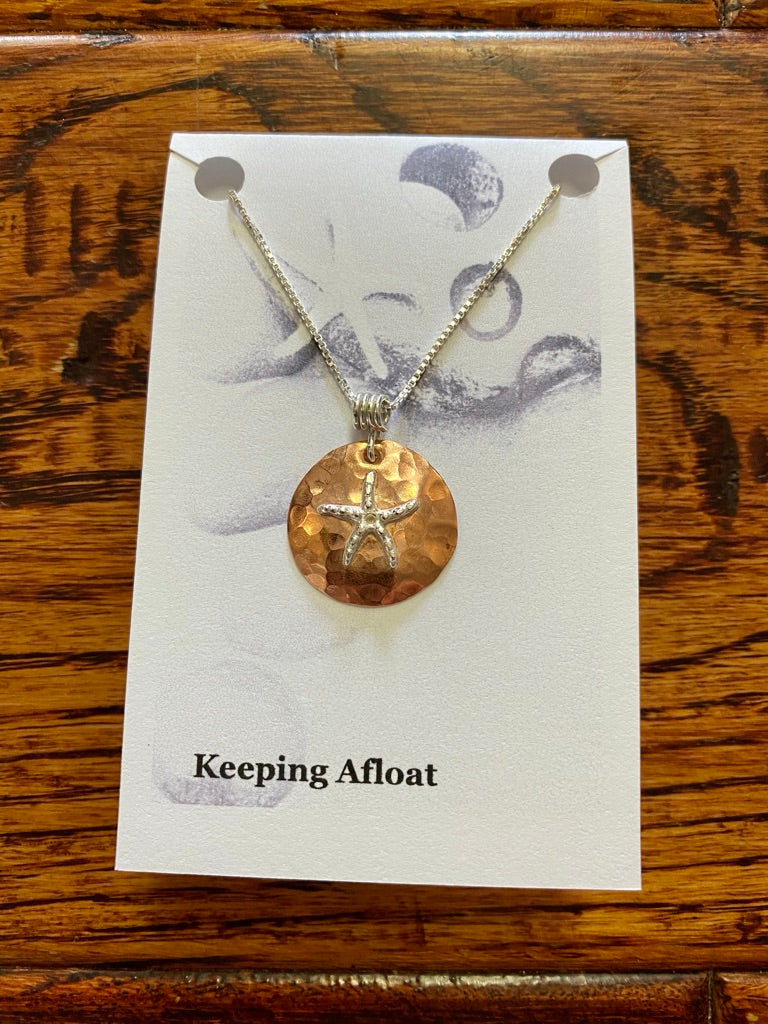 Keeping Afloat Copper Star Necklace CPSTn