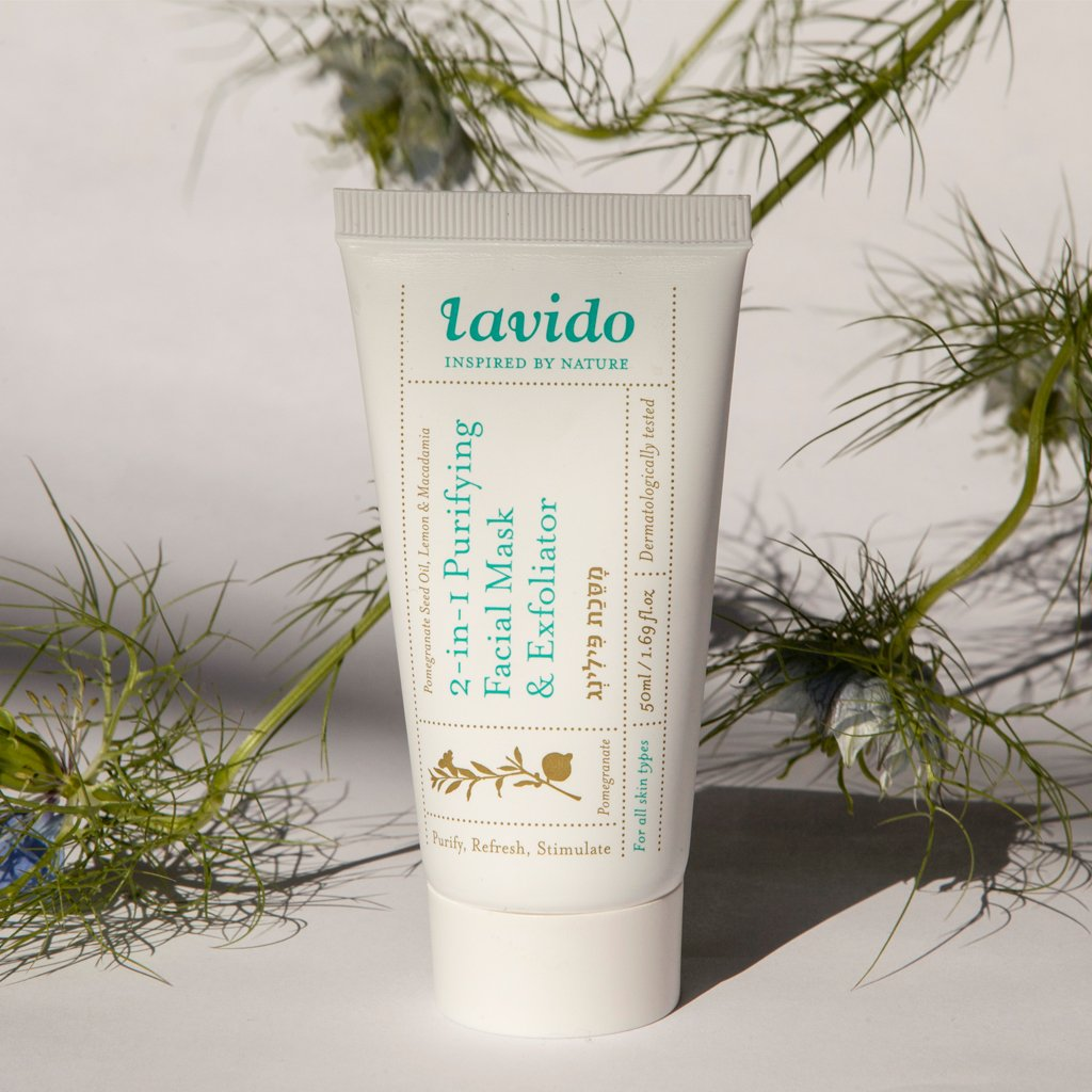2-in-1 Purifying Facial Mask and Exfoliator Lavido, 50 ml