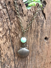 Load image into Gallery viewer, Hand Made Antiqued Brass Sea Shell Locket