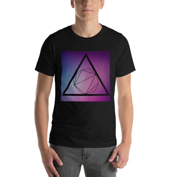 Short-Sleeve Unisex Geometric T-Shirt