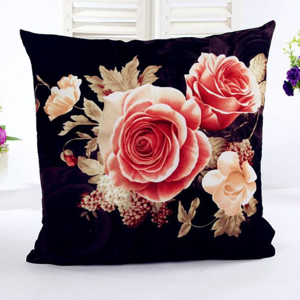 Floral Sofa Bed Home Decor Pillow Case Cushion Cover