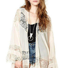 Load image into Gallery viewer, Boho Kimono in Beige, Black & White