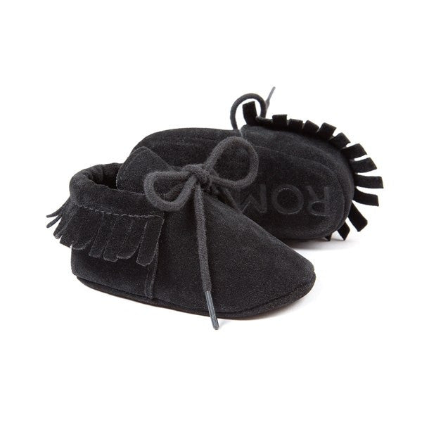 Baby Moccasins Infant Soft Shoes First walkers Fringe Soled Non-slip Footwear Crib Shoes PU Leather