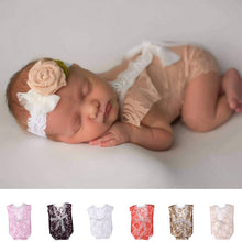 Load image into Gallery viewer, Newborn Lace Romper Baby Bloomer Boho Bloomer Baby Jumper Baby Girl Romper