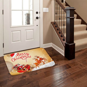 Foot Mat with  Christmas Decoration