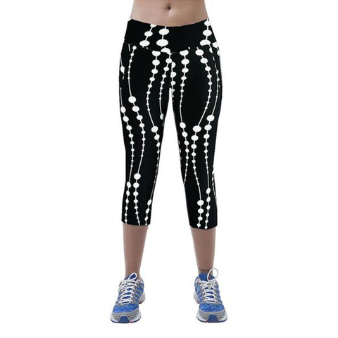 Printed Stretch Cropped Leggings