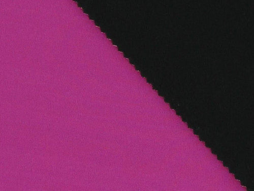 Double-Faced Bonded Neoprene, Cerise and Black
