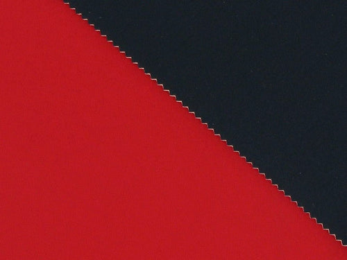 Double-Faced Bonded Neoprene, Red and Navy