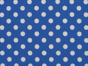 1cm Spot Polycotton Print, Royal