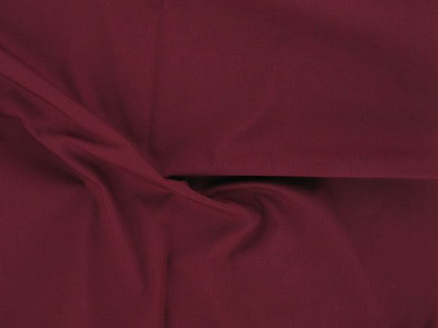 Plain Polycotton Fabric - Claret