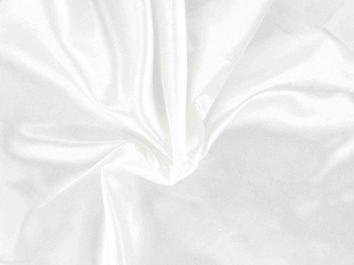 Polyester Satin - White