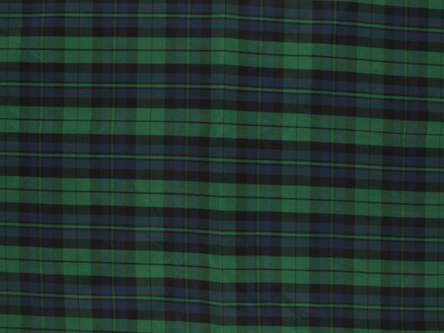 Taffeta Kilt Stripe - Green and Blue
