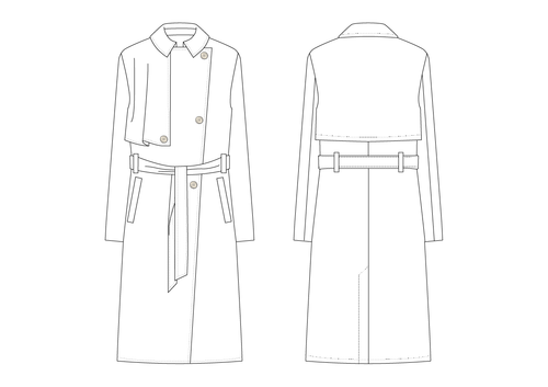 TRENCH COAT (DOUBLE BREASTED) - PATTERN  (MENS)