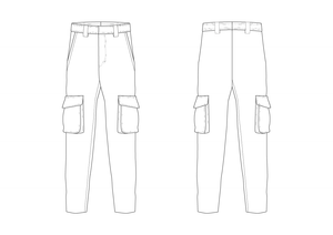 CARGO TROUSERS - PATTERN (MENS)