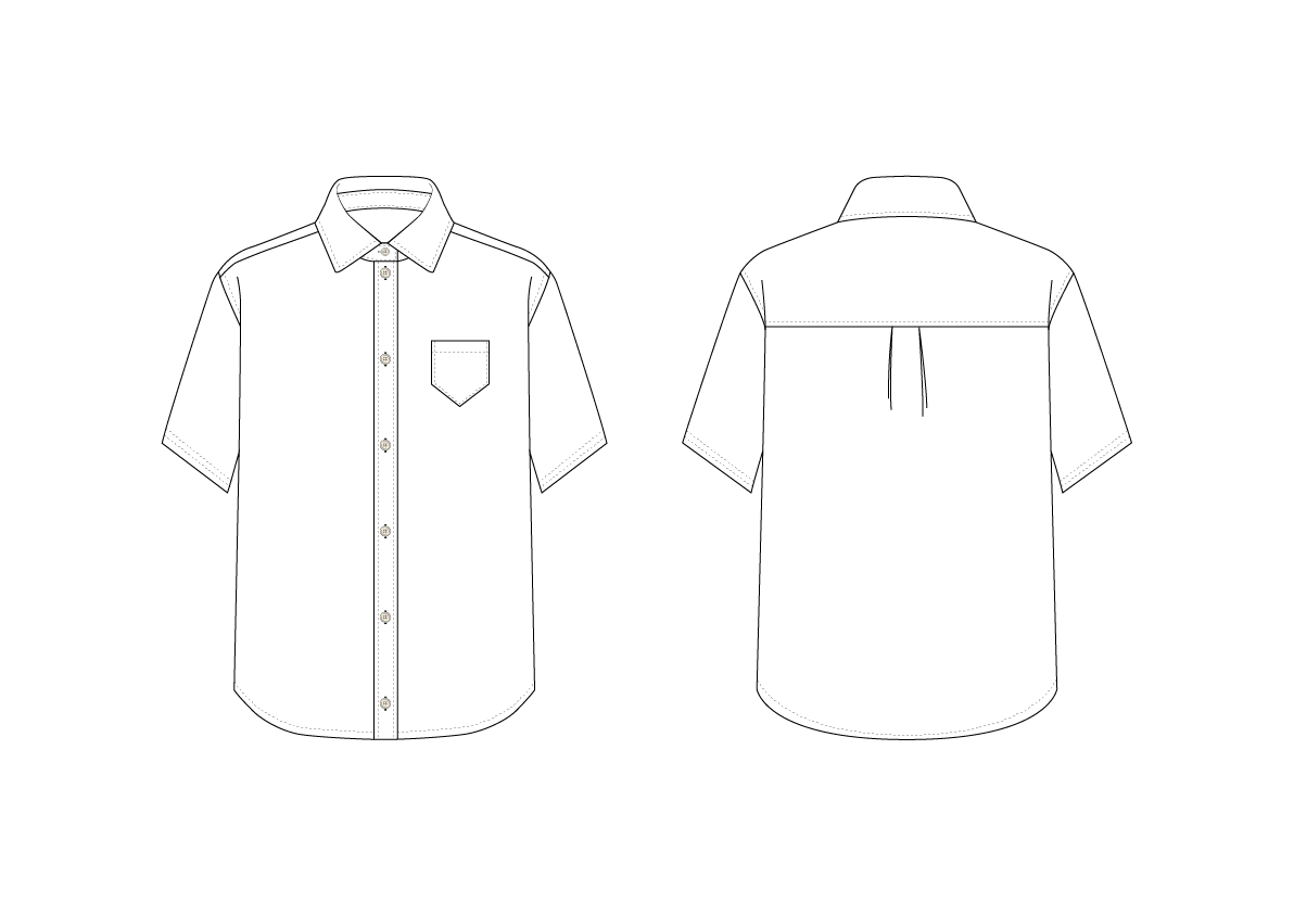 SHIRT (SHORT SLEEVE) - PATTERN (MENS)