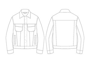 JEAN JACKET -  PATTERN (MENS)