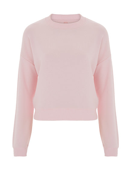Womens Cropped Sweater - Light Pink (Pack of 10)