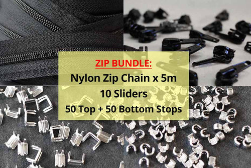 Zip Chain + 10 Sliders + 50 Top Stops + 50 Bottom Stops