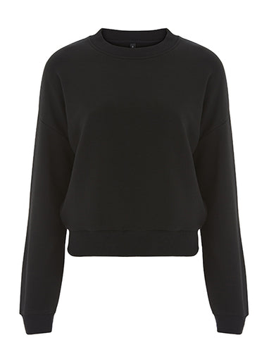 Womens Cropped Sweater - Black (Pack of 10)