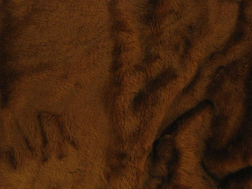 Short Pile Fur Fabric - Chesnut