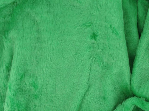 Short Pile Fur Fabric - Lime