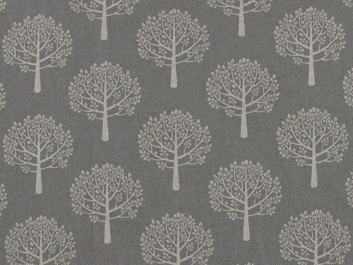 Linen Look Printed Panama Mulberry Trees, Dove