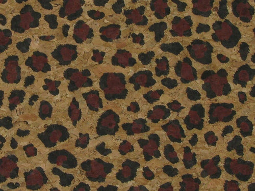 Large Grain Cork Vinyl, Leopard