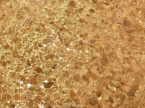 Large Grain Cork Vinyl, Gold