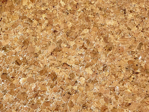 Large Grain Cork Vinyl, Silver