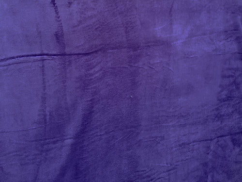 Ultra Soft Plain Cuddle Fleece, Purple
