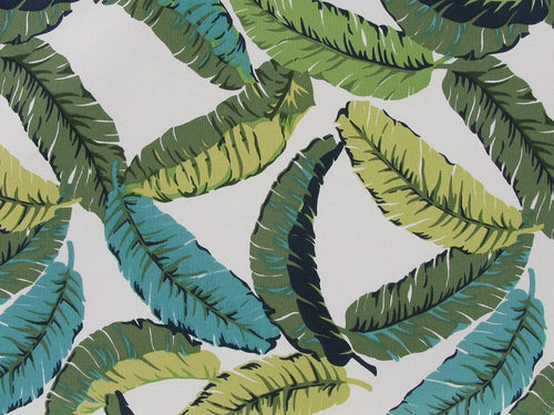 Tropical Leaves Printed Cotton Canvas