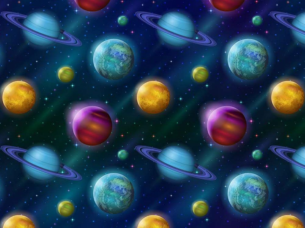 Cosmic Collection Cotton Print, Outer Worlds