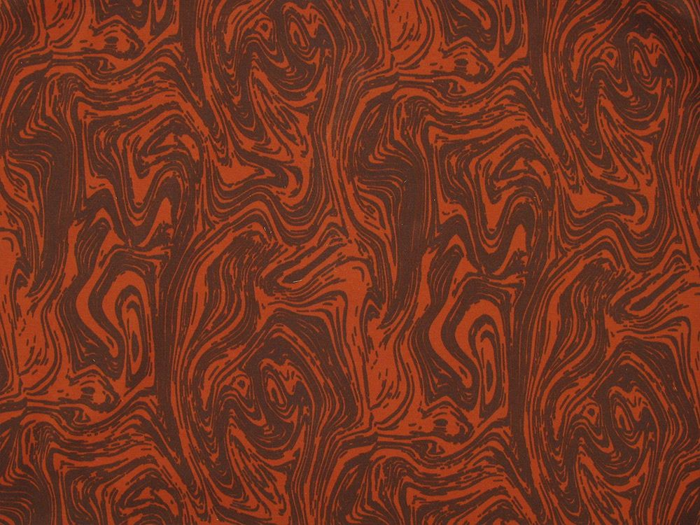 Liquid Swirl Cotton Jersey, Orange