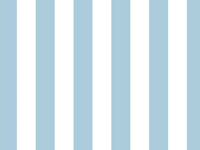 One Inch Stripe Cotton Poplin, Sky