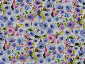 Field Of Flowers Soft Touch Cotton Poplin, Purple