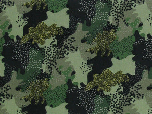 Camouflage Glitz Digital Cotton Print