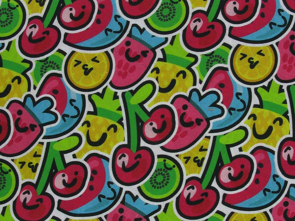 Fruit Salad Digital Cotton Print