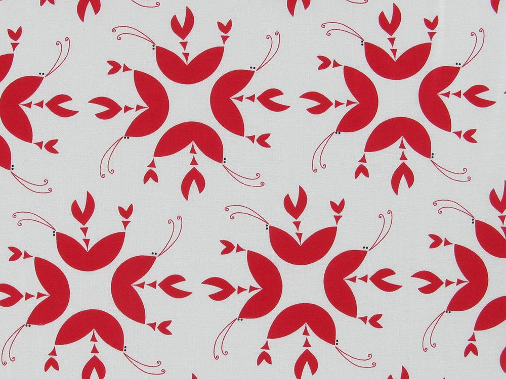 Geometric Crab Cotton Print