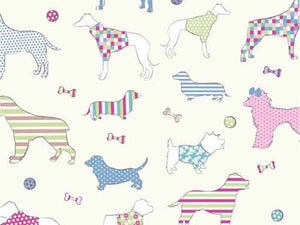 Woof Cotton Print, Candy