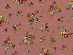 Countryside Roses Printed Cotton Corduroy, Pink