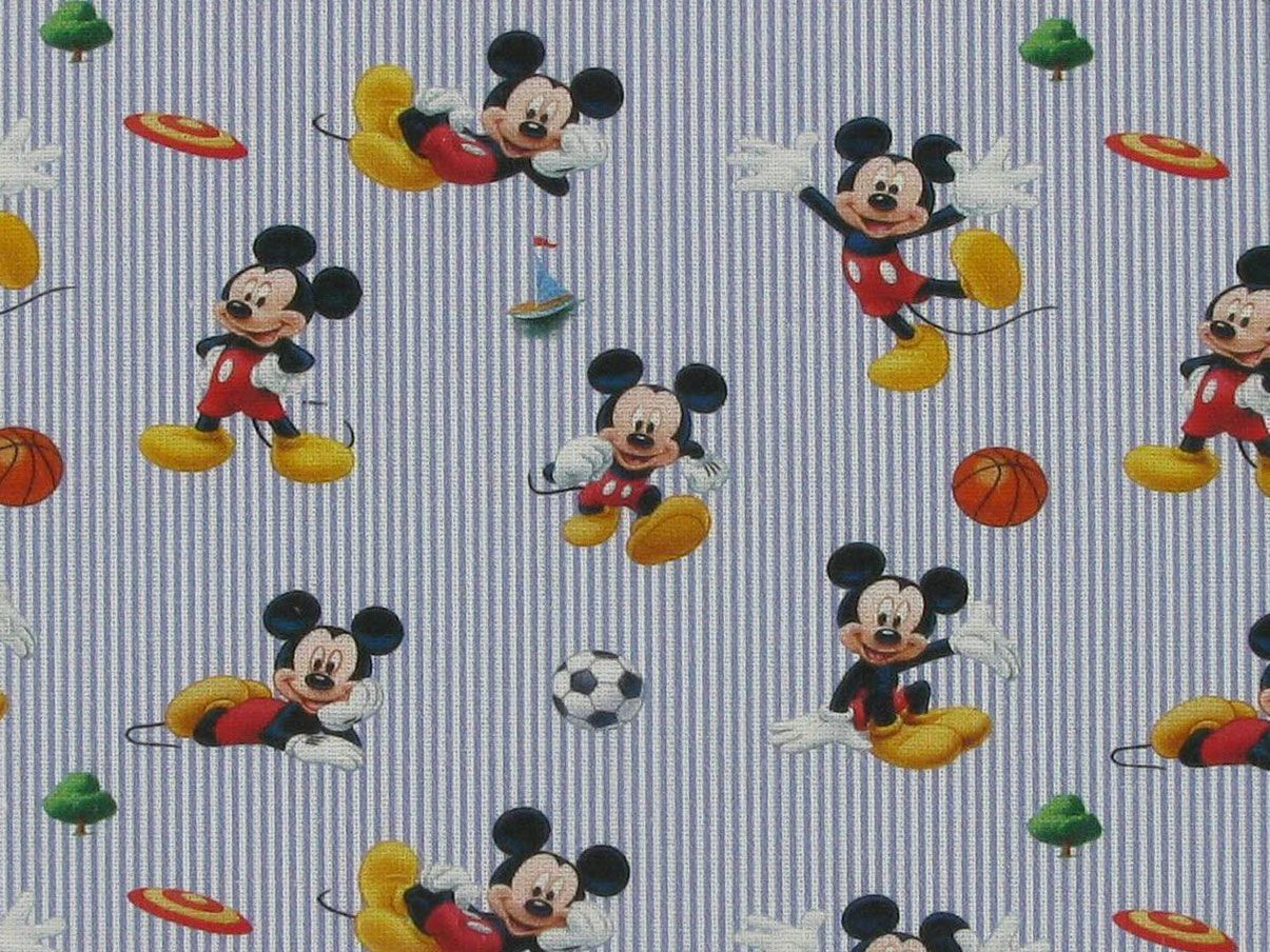 Disney Printed Cotton, Mickey Ball Games