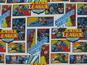 DC Comics Justice League Comic Book Cotton Print