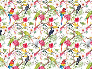 Exotic Birds Cotton Print