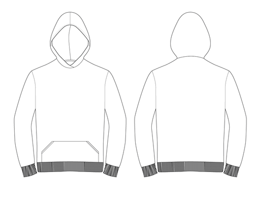 HOODED SWEATSHIRT - PATTERN (MENS)