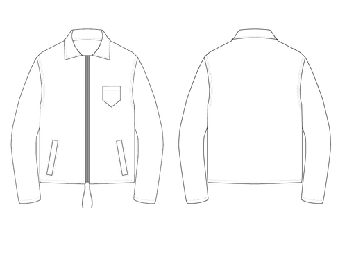 COLLAR JACKET - PATTERN (MENS)